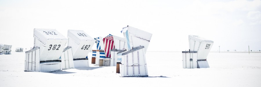 White Beach Strandkörbe #2