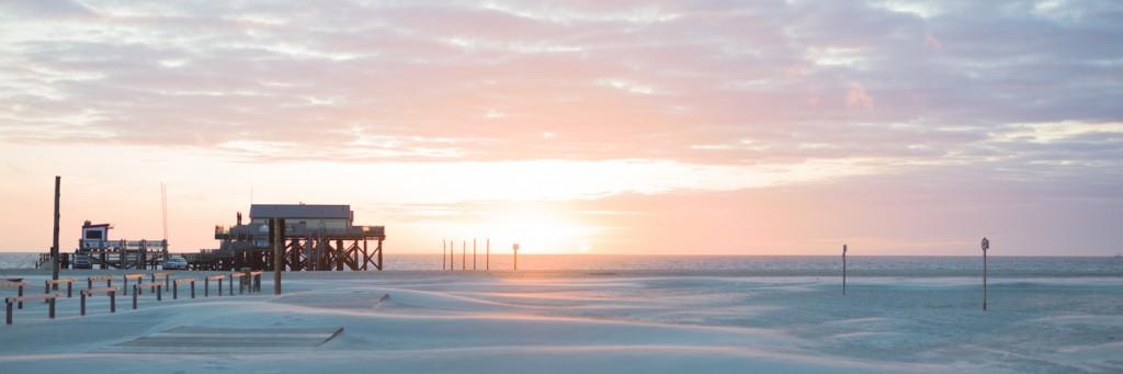 White Beach Sunset #1